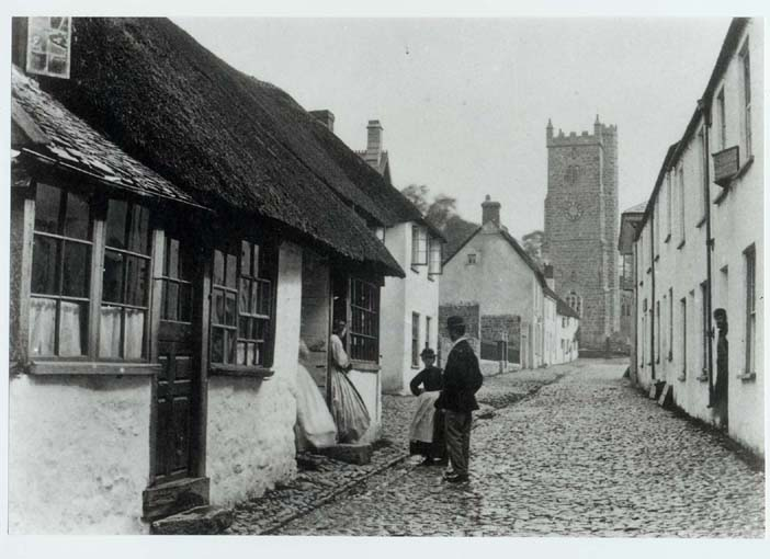 Fore Street, Looking up towards the Church, late 19th century
